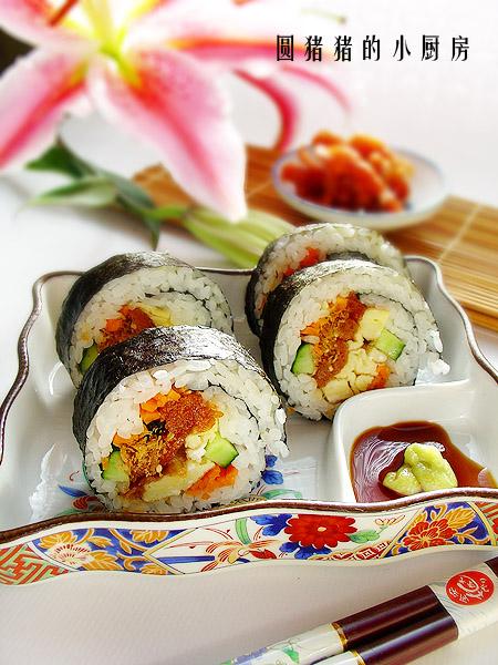 给不爱吃饭的孩子—-素食寿司