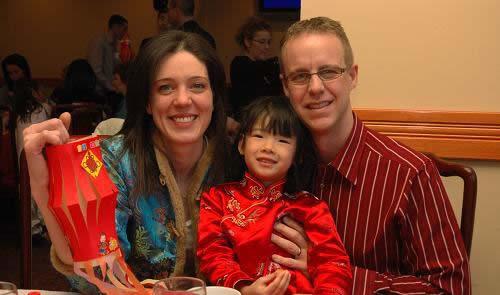 被外国人收养的中国孩子的春节