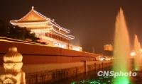 天安门音乐喷泉为祖国喝彩