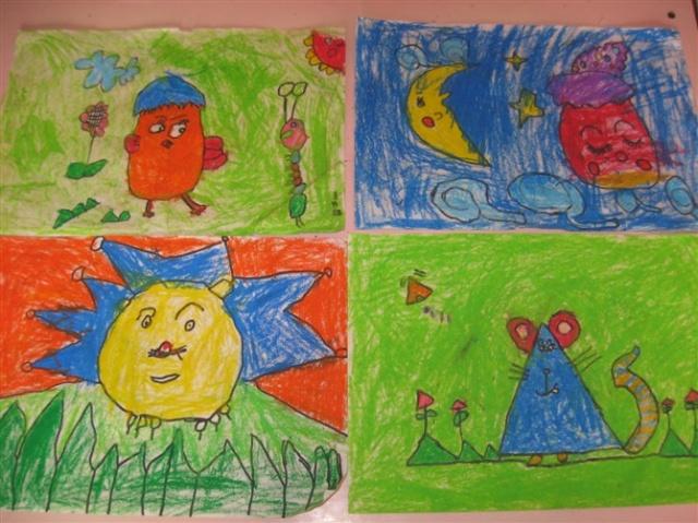 幼儿图画夏天的风景