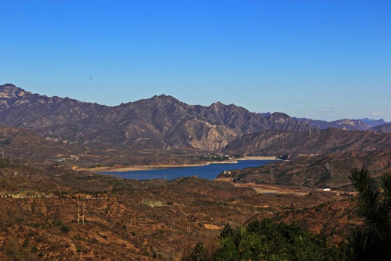 自然风景区燕山天池即北京白河堡水库.