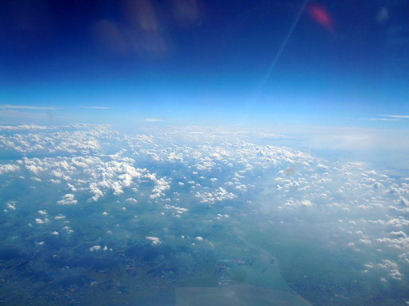 飞机上看美景-让世界充满爱-我的