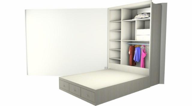 卧室衣柜含门效果图