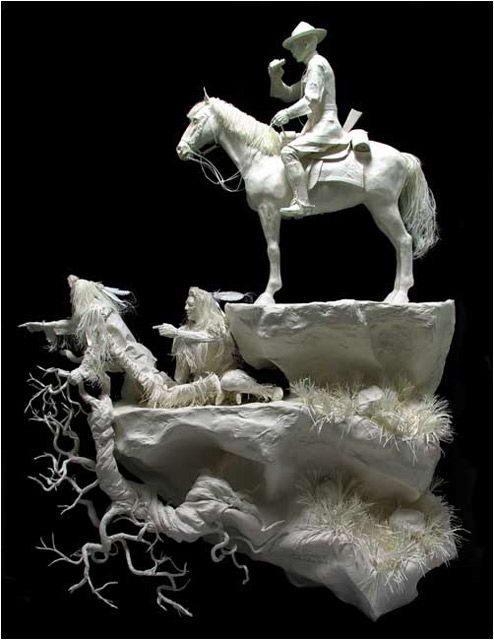 废旧纸浆与高雅艺术的完美联姻(图)   - 牧笛 - 牧笛视觉联盟