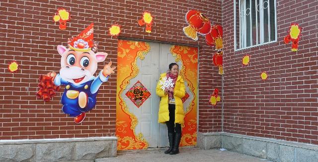 元旦会场布置图片_09年元旦联欢会场布置后的几张实景照片-美术星空-搜狐博客