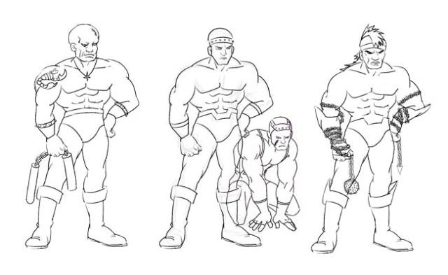 反面人物--肌肉男