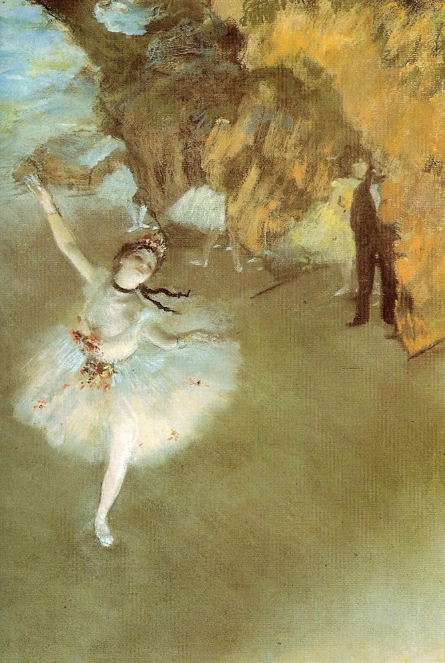 画家德加 edgar degas>---舞台上的舞女图片