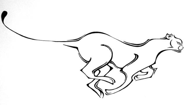 动物图案设计作业,我们小组抽签抽到的是豹子和鹰