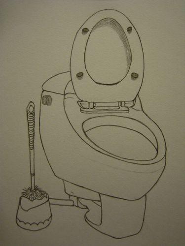 马桶简笔画可爱