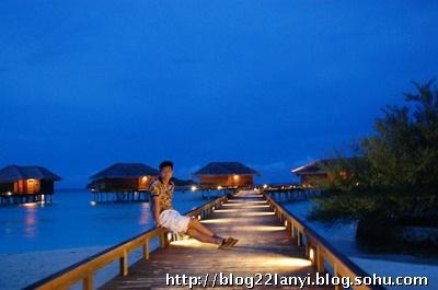 马尔代夫夜景高清壁纸