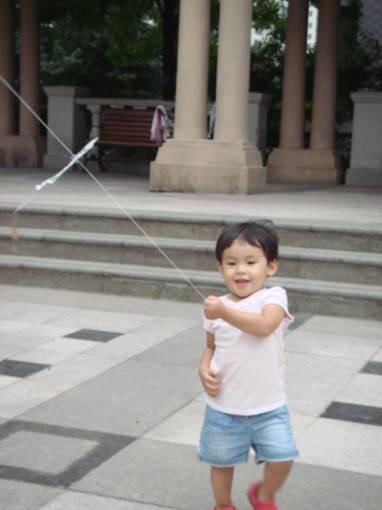 放风筝的小人