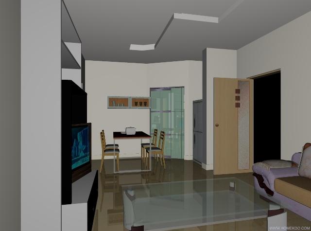 我自己設計的房子內部三維圖