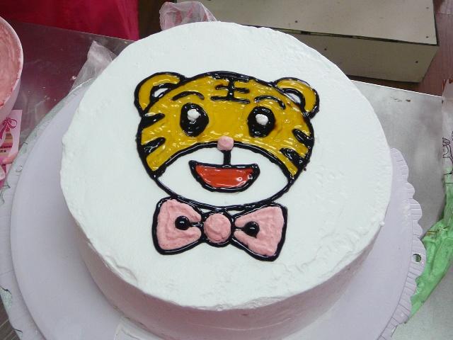 可爱老虎头蛋糕