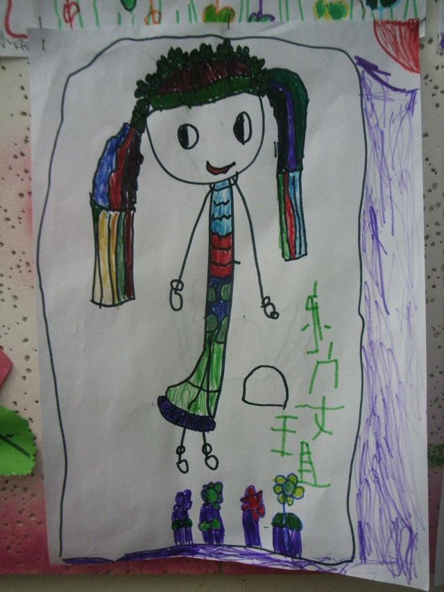 好妹画了长头发的王老师图片