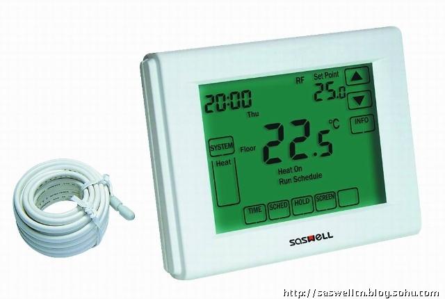 森威尔sas3000fhl全触摸屏地暖温控器