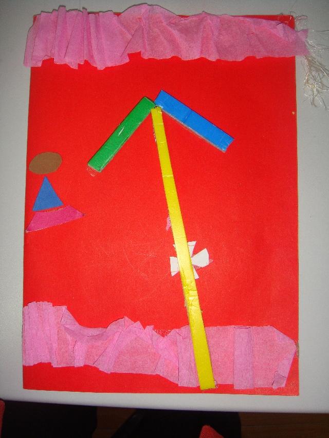 """""""哈哈,是一张漂亮的手工贺卡,一看就知道是在幼儿园里做的,老师们真有"""