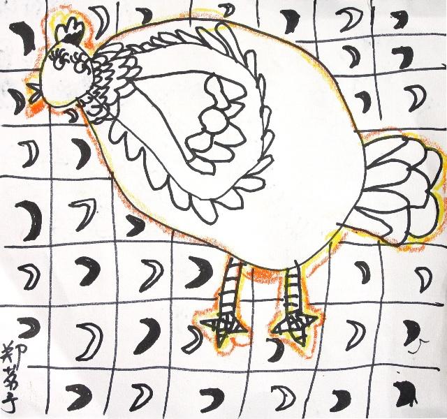 米罗班的学生作品(2010春第一课)-太阳岛少儿美术