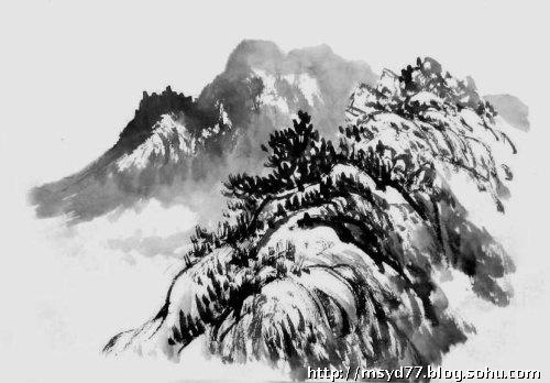 中国山水画技法之一(山石画法)
