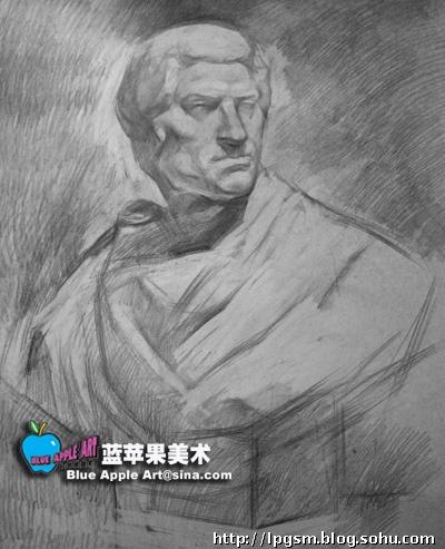 布鲁特斯-蓝苹果素描-搜狐博客