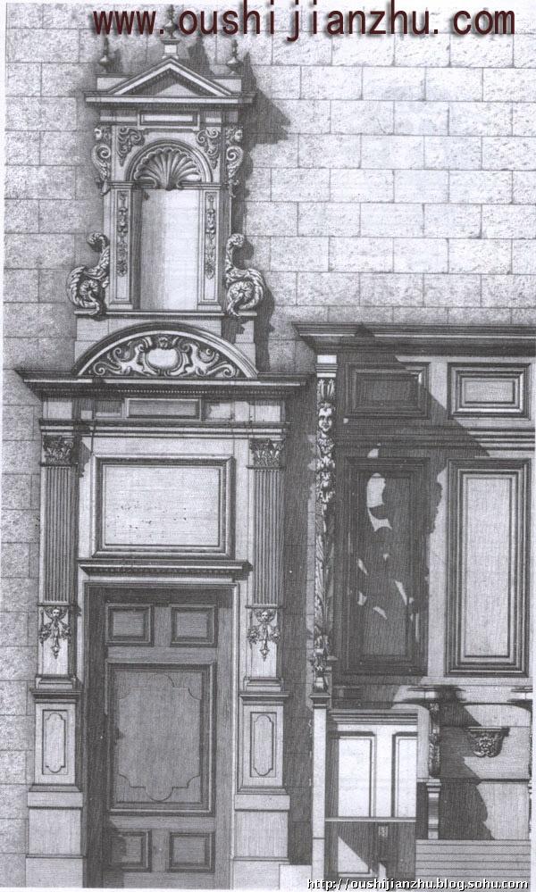 欧式建筑图片--钢笔手绘效果图-欧式建筑设计与施工