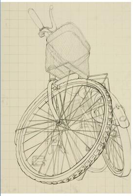 素描自行车步骤