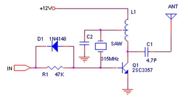 315遥控接收发射电路图