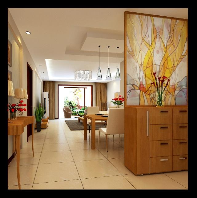 平米3居室简约设计高清图片