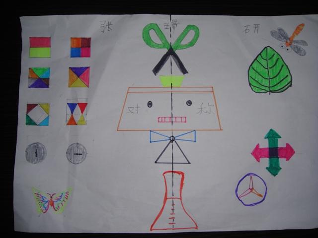 """""""小学数学二年级下:《对称图形》教学设计""""相关的详细问题如下:小学图片"""