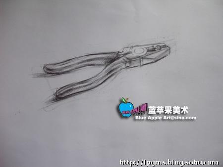 结构素描——钳子   美术高考  素描