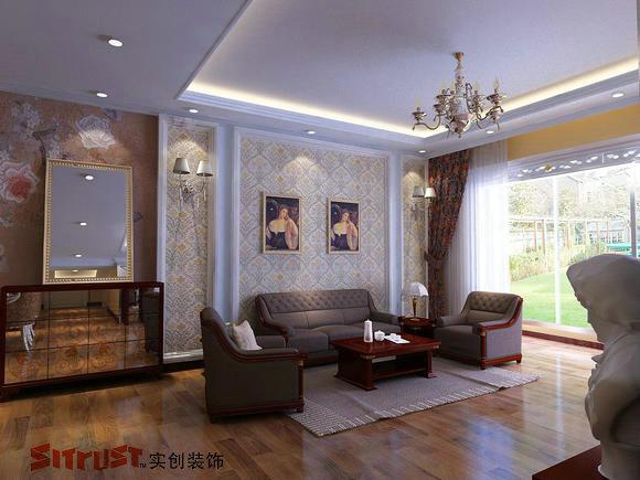 简欧沙发背景墙挂画图片大全 挂画 客厅沙发背景墙装饰画