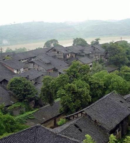 阆中古镇色彩风景临摹