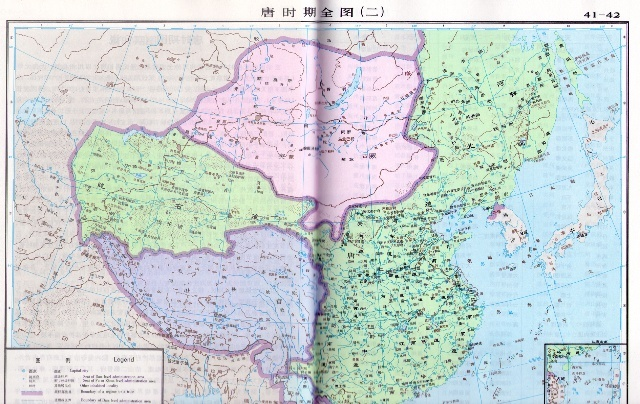 唐朝河东道地图