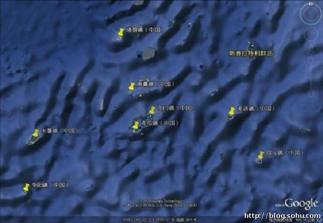 中国在南沙实际控制的岛礁一览