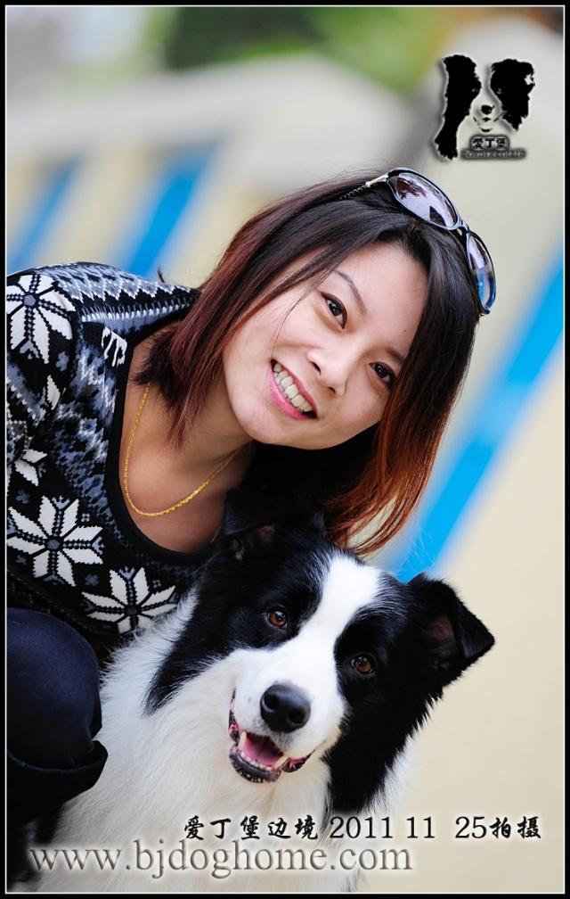 深秋◆青岛八大关◆边境牧羊犬闪电和美女外拍
